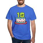 18 Year Old Birthday Cake Dark T-Shirt