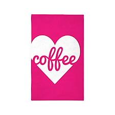 Coffee Heart Area Rug