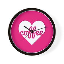 Coffee Heart Wall Clock