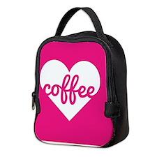 Coffee Heart Neoprene Lunch Bag
