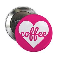 "Coffee Heart 2.25"" Button"