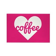 Coffee Heart Rectangle Magnet