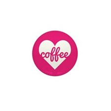 Coffee Heart Mini Button (10 pack)