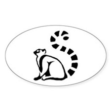 Clean Lemur Oval Decal