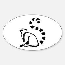 Clean Lemur Oval Decal
