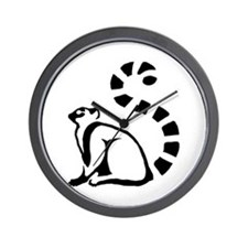 Clean Lemur Wall Clock