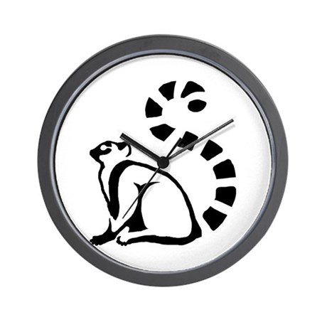 Clean Lemur Wall Clock