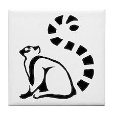 Clean Lemur Tile Coaster