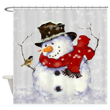 Snowman Shower Curtain By Simpleshopping