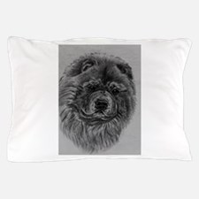 Chow Chow Dog Headstudy - Black Pillow Case