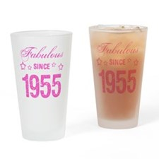 Fabulous Since 1955 Drinking Glass
