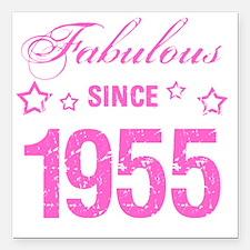 """Fabulous Since 1955 Square Car Magnet 3"""" x 3"""""""