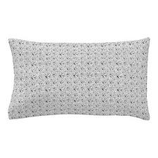 White Faux Glitter Pillow Case