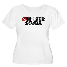 Hoofer SCUBA Women's Plus-Size Scoop T (white)