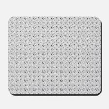 White Faux Glitter Mousepad