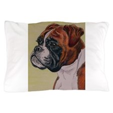 Red Boxer Dog headstudy Pillow Case