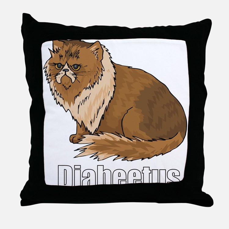 Cute Diabeetis Throw Pillow