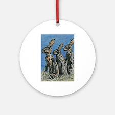 Rabbits at Night Ornament (Round)