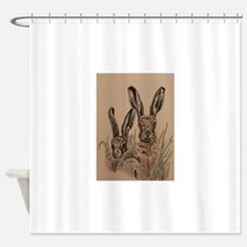 Two Hares Shower Curtain