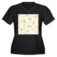 Vintage Summe Plus Size T-Shirt