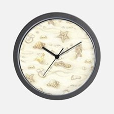 Vintage Summer Beach Pattern Wall Clock
