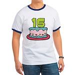 16 Year Old Birthday Cake Ringer T