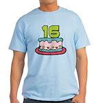 16 Year Old Birthday Cake Light T-Shirt