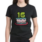 16 Year Old Birthday Cake Women's Dark T-Shirt