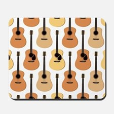 Acoustic Guitars Pattern Mousepad