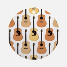 Acoustic Guitars Pattern Ornament (Round)