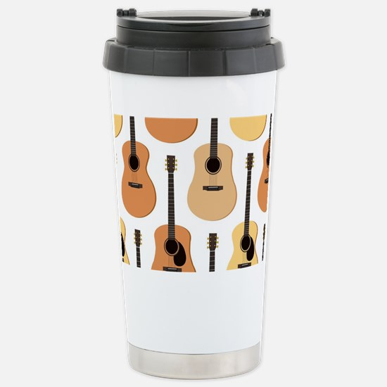 Acoustic Guitars Patter Stainless Steel Travel Mug