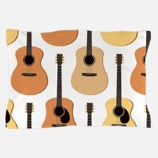 Acoustic Guitars Pattern Pillow Case