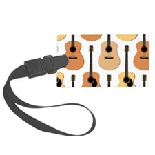 Acoustic Guitars Pattern Luggage Tag