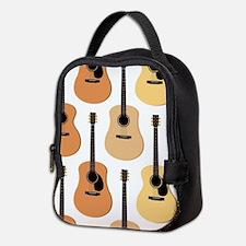 Acoustic Guitars Pattern Neoprene Lunch Bag