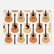 Acoustic Guitars Pattern 5'x7'Area Rug