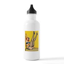 vintage yellow pin up  Water Bottle