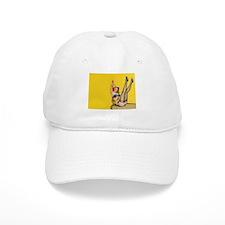 vintage yellow pin up 3 Baseball Cap