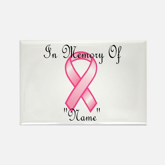 In Memory (pink ribbon) Rectangle Magnet
