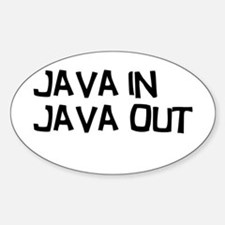 Java in Java Out Decal