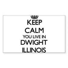 Keep calm you live in Dwight Illinois Decal