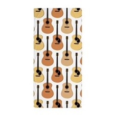Acoustic Guitars Pattern Beach Towel