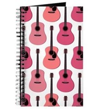 Pink Acoustic Guitars Pattern Journal