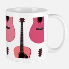 Pink Acoustic Guitars Pattern Mug