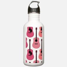 Pink Acoustic Guitars Water Bottle