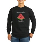 Watermelon Junkie Long Sleeve Dark T-Shirt