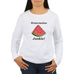 Watermelon Junkie Women's Long Sleeve T-Shirt