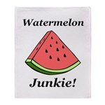 Watermelon Junkie Throw Blanket