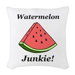 Watermelon Junkie Woven Throw Pillow