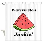 Watermelon Junkie Shower Curtain