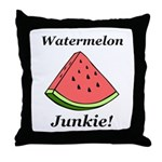Watermelon Junkie Throw Pillow